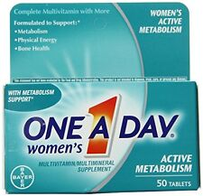 One-A-Day Womens Active Metabolism Complete Multivitamin Tablets 50 Each