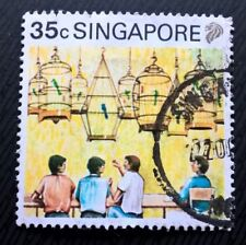 Singapore stamps - Coffee Shop Bird Singing Contest - 35 cents 1990