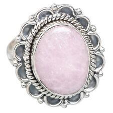 RARITÄT Ring echter NATUR ROSA KUNZIT Gr16,5  925 Silber  *23x20mm*
