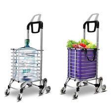 Foldable Shopping Cart 35L 8 Wheel Alu Stair Climbing Cart Grocery Laundry w/Bag