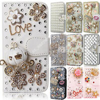 Flip Magnetic Bling Glitter Colorful Leather Case Wallet Cover For LG Phone