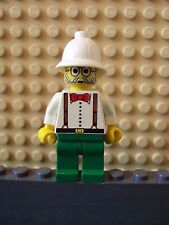 Lego Minifig ~ Charles Lightning ~ Adventurers Archaeologist With Pith Helmet