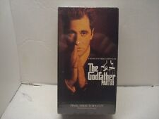 The Godfather Part Iii (Al Pacino) (Vhs, 1991, 2-Tape Set) New