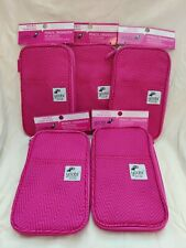 Yoobi Pink Pencil Organizer Case With Pockets Zip Closure New with tags Lot Of 5