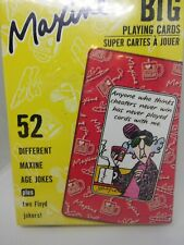 Hallmark Maxine Big playing cards New in package, each with Maxine 54 w/2 Floyd
