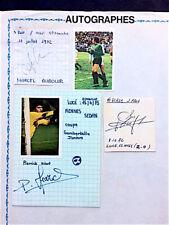 Autographes football - gardiens de but - Aubour, Escale, Pierrick Hiard -1972-73