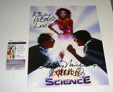 Weird Science Cast Signed 11x14 signed by 3 LeBrock Mitchell Smith Hall JSA CERT