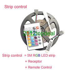 3528 RGB led strip light 5M 300SMD led stripe + Mini 24keys IR Remote Controller