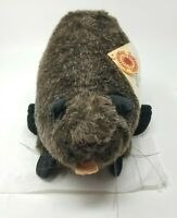 Vintage Smithsonian Stuffed Beaver Animal Soundprints Wild Heritage Collection