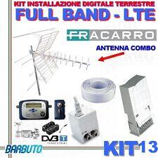 KIT 13 FRACARRO X DIGITALE TERRESTRE FULL BAND FILTRO LTE + PUNTATORE+50MT CAVO