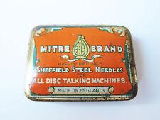 Grammophon NADELDOSE MITRE BRAND gramophone needle tin