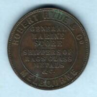 Australia Token. 1861 Hyde & Co - Penny.. Melbourne Vic.. VF/aVF
