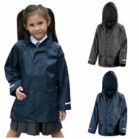 Childrens Waterproof Jacket Kids Boys Girls Childs Rain Coat Windproof