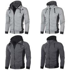 Mens Hoodie Long Sleeve Zip Up Hooded Sweatshirt Jacket Coat Tops Sports Outwear