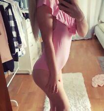 Monokino Body pink Top Shirt Slip sexy Bikini Größe S pink Rüschen gebraucht