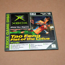 Official Xbox Magazine Demo Disc 19 (Xbox, June 2003) OXM Tao Feng Halo 2 Matrix