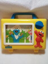VINTAGE Sesame Street Illco Elmo Musical TV Music Box Wind Up Baby-Preschool...