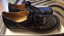 Clarks Zapatos Planos De Cuero Negro señoras talla 8