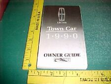 1990 LINCOLN TOWN CAR OWNER'S GLOVEBOX MANUAL XLNT