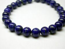 GENUINE LAPIS LAZULI BRACELET 8 MM ROUND 7 INCES