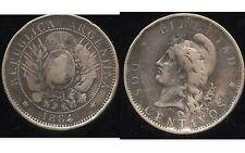 ARGENTINE 2 centavos 1884  ( bis )
