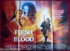 Cinema Poster: FLESH AND BLOOD 1985 (Quad) Rutger Hauer Jennifer Jason Leigh
