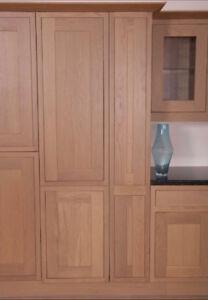 mfi Kelmscott Howdens Haworth SOLID OAK KITCHEN 300 x 1958mm LARDER DOOR KO54