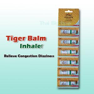 6 x Tiger Balm Inhaler Menthol Eucalyptus Relieve Nasal Congestion Dizziness