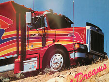 Vintage Poster Peterbilt Semi Truck 18 Wheeler Sweet Dreams Man Cave Garage