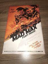 """Mad Max Fury Road Movie Poster Mini 11""""X17"""""""