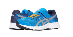 ASICS 1014A034.409 JOLT 2 PS Yth`s (M) Blue/Orange Mesh Athletic Shoes