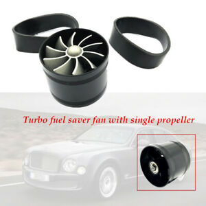 Car Aluminum alloy Air Intake Single Fan Engine Gas Fuel Turbine Super Charger