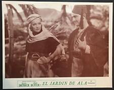 close- up of Marlene Dietrich Joseph Schildkraut Garden of Allah lobby card 2890