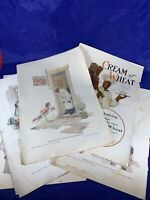 Vintage Original Print Ads 1919 1916 Lot of 6 Cream of Wheat Inside Cover c261