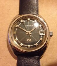 Rare 1970s Citizen V2 Seven Watch, With Date Function. VGC And Working Well