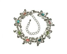 Genuine Paua Sea Shell Jumping Frog Anklet - Multi Colored