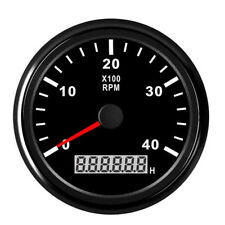 85mm Universal 12/24V Marine RPM Tachometer Gauge LCD Tacho Hour Meter 0-4000RPM