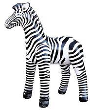 """2 Inflatable Realistic Zebra 56""""H Safari Collection Home Garden Decor Bouncy"""