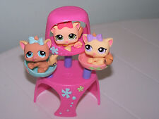Littlest Pet Shop Triplets Kitten Condo Purple Green Blue Eyes 1335 1336 1337
