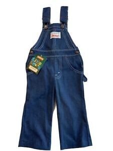 Vtg Little Levis 70s Koveralls Toddlers 2T With Tag 1978 Made In USA