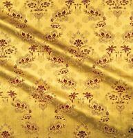 Jacquard Church Quality Liturgical Brocade Fabric Vestment Cross Floral Pattern