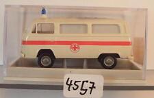 Brekina 1/87 Nr. 33247 Volkswagen Bulli VW T2 Bus Croce Rossa Italien OVP #4557