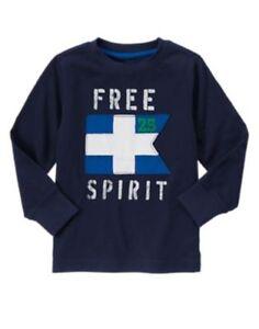 GYMBOREE SPRING PREP NAVY w/ Free Spirit L/S TEE 5 8 NWT