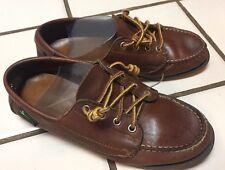 Eastland Classic Camp mocs brown leather shoes loafers Sz 4.5 D Eu 37 Maine, Usa