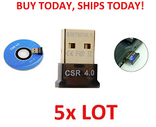 5pc LOT Bluetooth 4.0 USB 2.0 CSR 4.0 Wireless Dongle Adapter for PC LAPTOP