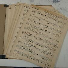 orchestra parts FLIEDERMONOLOG wagner - meistersinger , handwritten antique