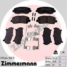 25564.160.2 ZIMMERMANN Brake Pad Set, disc brake for MAZDA