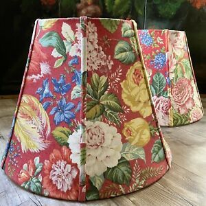 Fab! Set of Two Floral French Country Fabric Lamp Shade Custom Large Decorator