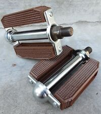 """Brown BEACH CRUISER PEDALS 1/2"""" for ADULT BIKES FULL SIZE NEW!"""