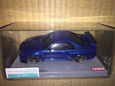 Kyosho Mini Z (Body) MZG1MB NISSAN SKYLINE GT-R V-spec R34 Metallic Blue Rare!!